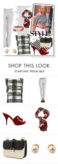 """Sex and The City - Samantha Jones Style"" by italist ❤ liked on Polyvore featuring Balenciaga, Emporio Armani, Miu Miu, Valentino, Tory Burch and Alexander McQueen"