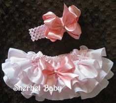 Pink Sassy Pants Ruffle Diaper Cover Bloomer by SherbetBaby, $42.00