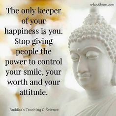 depression is bio chemical and its been triggered by 3 years of daily ugly relentless vigilant covert govt abuse its not a choice to be nhappy its barely a choice daiuly not to kill myslelf get REAL Buddha Quotes Inspirational, Positive Quotes, Motivational Quotes, Wisdom Quotes, Quotes To Live By, Happiness Quotes, Yoga, Buddha Thoughts, Buddha Life