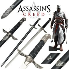 """Assassin's Creed épée Altair collector•for a moment I thought it said """"assassins crepe."""" Do with that what you will"""