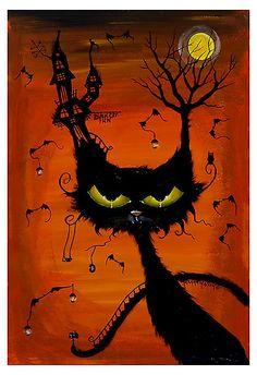 Black Cat Inn by joannanelsonstudio.com. joanna nelson studio on FB