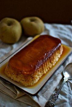Flan de manzana, receta francesa con Thermomix Sicilian Recipes, Mexican Food Recipes, Sweet Recipes, Cake Recipes, Dessert Recipes, Sicilian Food, Dessert Thermomix, Delicious Desserts, Yummy Food