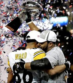 So much Steeler history in this one image.