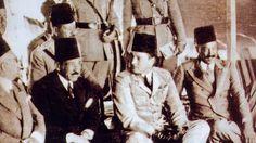Young King Farouk and Prime Minister Ali Pasha Maher