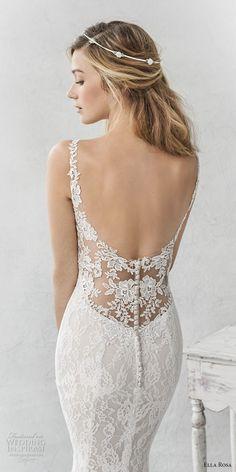ella rosa spring 2017 bridal sleeveless thin strap sweetheart neckline full  embellishment elegant sheath fit flare wedding dress open back chapel train  zbv ... bf61c214ad7c