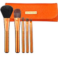 Love the funky color of this sephora brush set!