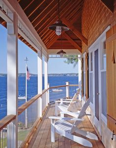 Porch, Ocean Point Cottage, Boothbay, Maine