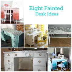 Eight Painted Desk Ideas - Just Paint It Blog