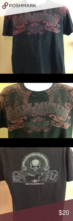 "Harley Davidson Mens Sz L Tshirt West Palm Beach Harley Davidson Mens Sz L Tshirt West Palm Beach in great preowned condition. Armpit to armpit 21"", great design! See pics Harley-Davidson Shirts Tees - Short Sleeve"