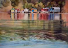 Boat Shed, Impressionism, New Art, New Zealand, Original Artwork, Watercolor, Gallery, Artist, Painting