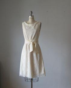 Dress Creme Lase  Vanilla , Creme ,  Bridesmaids ,  Bride  Wedding   Vintage Pastel Angel  Pale Creamy Roses Dreamy Spring A line dress. $89.99, via Etsy.