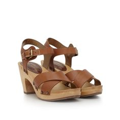 a2e04332c4dc These retro-chic sandals have crisscrossed leather straps and an ankle  strap that s secured a