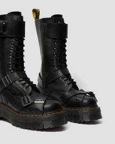 1914 SMOOTH LEATHER TALL PLATFORM BOOTS | Boots | Dr. Martens Official