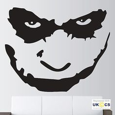 Batman #joker face wall art stickers #decals #vinyl decor room home,  View more on the LINK: 	http://www.zeppy.io/product/gb/2/301753295640/