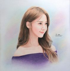 Girly Drawings, Kpop Drawings, Realistic Drawings, Im Yoon Ah, Yoona Snsd, Drama, Daily Drawing, Fanart, Girls Generation