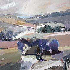 Richard Claremont.  Landscape near Kings Plains - Oil Painting