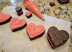 Fudgy Brownie Hearts with Fresh Raspberry Buttercream » a farmgirl's dabbles