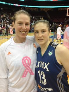 Lindsay Whalen & Katie Smith at Katie Smith's last game vs the Lynx.