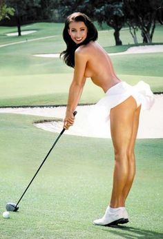 Hot naked woman golfer pic 425