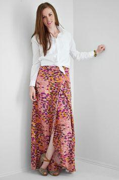 Full Coverage Wrap Skirt Tutorial | http://melissaesplin.com/2013/10/sponsored-full-coverage-wrap-skirt-tutorial/