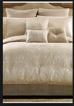 9 Pc Croscill Giselle Queen Comforter Set Euro Shams