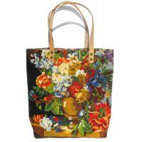 French Tote Bag, needlepoint and tapestry art