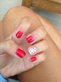 Shellac Nails love the reddd