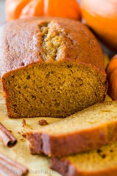 Pumpkin Bread has a soft and moist crumb with wonderful pumpkin flavor. This is … Pumpkin Bread has a soft and moist crumb with wonderful pumpkin flavor. This is our go-to easy pumpkin bread recipe and it's freezer friendly! Frozen Pumpkin, Best Pumpkin, Baked Pumpkin, Easy Pumpkin Bread, Healthy Pumpkin, Banana Bread Recipes, Pumpkin Recipes, Pumpkin Pie Mix Bread Recipe, Dessert Bread