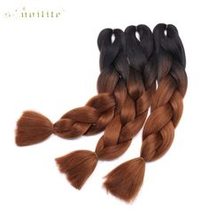 Hair Braids S-noilite 100g/pack 24inch Braiding Hair Ombre Two Tone Colored Jumbo Braids Hair Synthetic Hair For Dolls Crochet Hair Clear And Distinctive