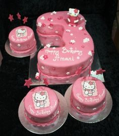 hello kitty cakes and cupcakes Hello Kitty Cake Ideas Hello Kitty Birthday Cake, Hello Kitty Cake, Happy Birthday, Mini Cakes, Cupcake Cakes, Cupcakes, Cat Party, Beautiful Cakes, Eat Cake