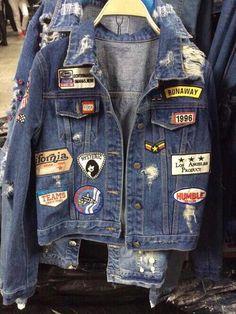 """""""Bild via We Heart It # mode # grunge… Grunge Outfits, 90s Fashion Grunge, Fashion Mode, Look Fashion, Denim Fashion, Fashion Outfits, Grunge Clothes, Denim Outfits, Jackets Fashion"""