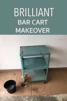 Bar cart makeover. Trash Cart Turned Bar Cart! This is so cool! Sponsored pin.