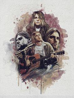 ideas music rock and roll kurt cobain for 2019 Kurt Cobain Art, Nirvana Kurt Cobain, Kurt Cobain Tattoo, Grunge Tattoo, Hard Rock, Nirvana Art, Nirvana Lyrics, Fred Instagram, Metallica