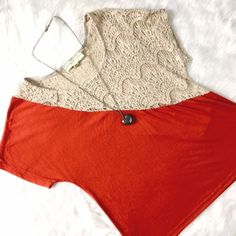 Staring At Stars Crochet Detail Tee Great tee to play around with; perfect for layering or going solo! No flaws, excellent condition! Urban Outfitters Tops