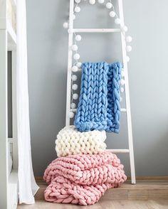 Φτιάχνουμε μόνες μας γιγάντιες μάλλινες κουβέρτες! Οτι πιο χουχουλιάρικο   BOVARY