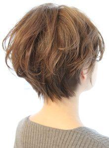 丸みが可愛いニュアンスショートボブ|髪型・ヘアスタイル・ヘアカタログ|ビューティーナビ