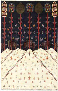 Persian Gabbeh Rugs Gallery: Persian Luri Rug, Hand-knotted in Persia; size: 5 feet 4 inch(es) x 8 feet 1 inch(es)