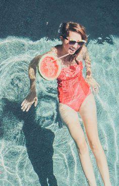 Floating watermelon drinks