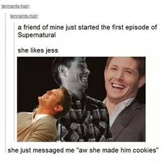 Bahahahahahahahahahahahahahaha. Of all the characters to like, you pick Jess. Ha, okay! Not a great choice though...