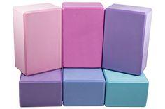 """Set of 2 Yoga Blocks by DEVI YOGA 9""""X6""""X4"""" Eco-Friendly E…"""