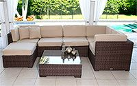 Wicker Furniture Warehouse- Bellagio Sectional Seating; $2500