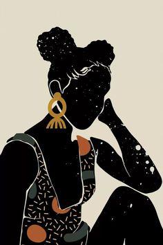 Black Hair VI - Canvas Print
