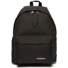 Eastpak Padded Pak'r Backpack ($58) ❤ liked on Polyvore featuring bags, backpacks, black, rucksack bag, black rucksack, eastpak backpack, nylon bag and backpack bag