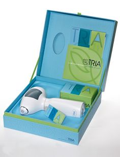 Tria Laser Hair Removal  Tired of constantly shaving and waxing? The first FDA-approved laser hair removal system has finally hit the market, providing you with permanent results in as little as 8 treatments. In just 5 easy-to-follow steps, the Tria promises baby-soft skin you can achieve yourself in the comfort of your own home.