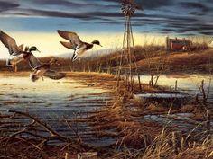 ve Sanat Eserleri Visitar página Ver imagen Guardar Ver guardadas Wildlife Paintings, Wildlife Art, Art Paintings, Art Canard, Terry Redlin, Hunting Art, Duck Hunting, Bird Artists, Most Popular Artists