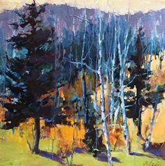 """Mountain Sidelines-Landscape by Joan Fullerton Oil ~ 24"""" x 24"""""""