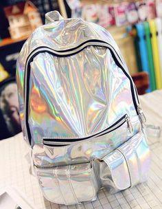 Mochila escolar Holográfica/ Teen School Bag
