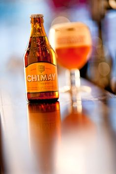 Chimay Triple (White).8% 8/10 crisp beer bears a light orange colour, very hoppy. The best Chimay beer from my viewpoint.