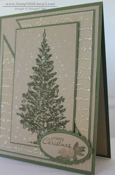 Special Season stamp set and a little bit of Iridescent Ice Stampin' Emboss Powde