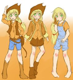 Applejack Human by ~AppleStems on deviantART